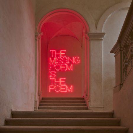 The missing poem is the poem, 1968. Maurizio Nannucci.  Ph Agostino Osio - Alto Piano Studio